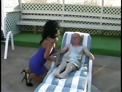 A Latin MILF has Large Fuck with a Little Guy!!