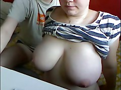 Young bbw large tits huge love bubbles masturbates spunk fountain blowjob