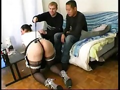 French maid threesome -