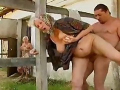 Hawt Steamy Granny Sex on Farm