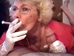 Granny Head #5 (Smoking) Cum for the Teacher