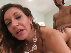 Demented Lascivious White GILF Corrupts Big black cock