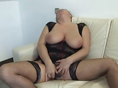 Golden-haired Shorthair BBW-Granny fucked