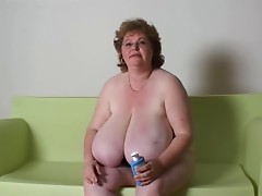 BBW Granny Massage Massive Milk cans