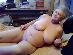75yr old Busty Granny Finger Fucks her Lustful Love tunnel