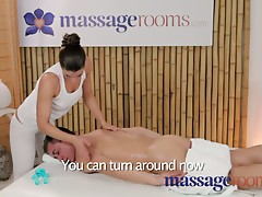 Massage Rooms Big natural boobs acquire squeezed