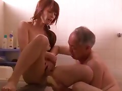 Young wife fucked by old guy next door