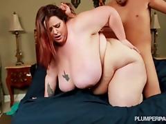 Biggest Tit BBW Mandy Fucks Yoga Instructor