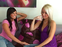 Two hot sweethearts play