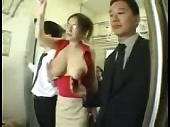 Big Tits Asian Groped on Train -