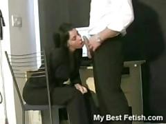 Secretary Caught Sucking On Cock