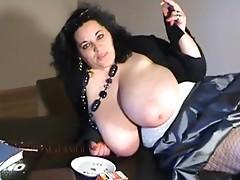BIANCA BLOOM big boobs smokin'