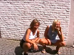 Two Polish angels fucking outdoors in Maastricht, Netherlands