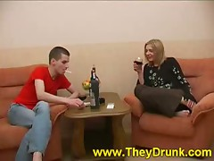 Max is watching as Olga sips from her glass and he's hoping that she'll get completely drunk so that guy can have his way with her without any trouble. He's been hopeless to fuck her for ages since that guy heard about her tight muff and how sexy that bab