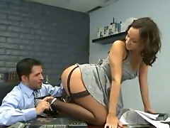 Secretary Jada Stevens black nylons sex