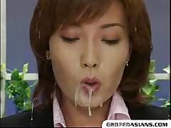Newscaster's Bukkake -