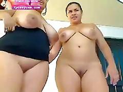 hot lesbian bbw showing pussy on webcam