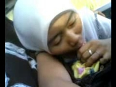 petite malay girl giving bj in a car