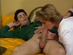 Hot French Milf Enjoys A 3some !
