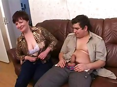 Russian older mamma and her boy! Amateur!