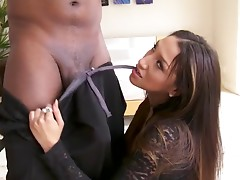 Petite Oriental girl & a Huge black meat anal invasion ctoan