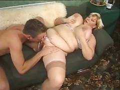 BBW Gets 2 Cocks