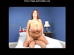 BBW with huge boobs doggy style rammed