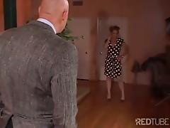 MILF fucks her husband's boss