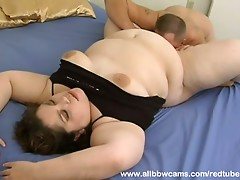 Face-full of BBW pussy