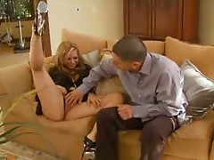 Busty Blonde beauty sex with professor