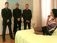 Busty Boss And Her Three Bodyguards