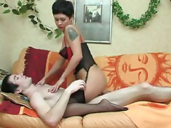 Russian mommy anal sex