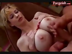 Huge Breasted Blonde Has Her Cougar Tits Covered Video