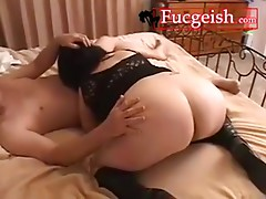 Fat Assed Raven Haired Mature Gets Fucked Doggy Style Video