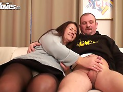 Mature couple fuck hard on camera