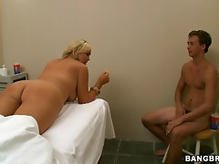 Blonde milf's fucked silly by a stud's big cock