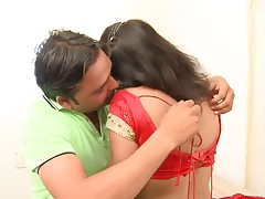 Indian Cute, Sexy Aunty teased by her BF