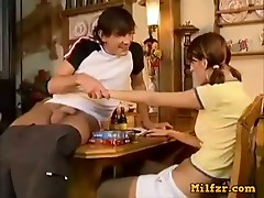 Dad and brother takes horny sister