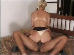 Horny blonde's fucked silly after she deep throats