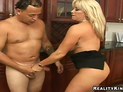 Bitch with big tits gets ridden hard
