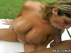 Rough sex with the busty Brazilian babe Mellissa