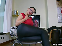 Utter whore gives head & footjob