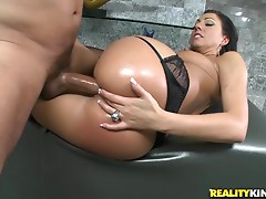 Incredible sex with the horny brunette milf Tiffany Brooks