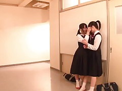 Lesbian Schoolgirl Battle (2 of 3 censored)