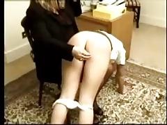 Schoolgirl  Takes  Her  Spanking