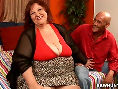 Mature BBW's nailed by a horny guy on camera