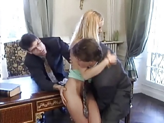 Sweet tiny blonde gets DP