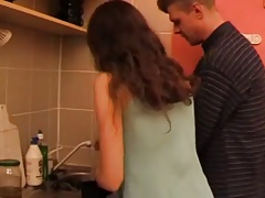MRY - skinny girl fucked in kitchen