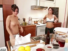OpenLife Sexy FRENCH sisters BBQ ends in an orgy