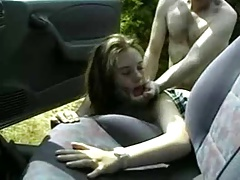 Young Slut Sabine fucks outdoor